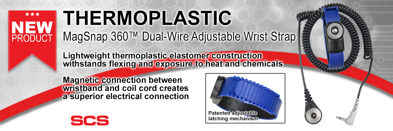 MagSnap 360™ Dual-Wire Thermoplastic Adjustable Wrist Strap