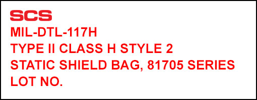 MIL-81705 Bag Identification